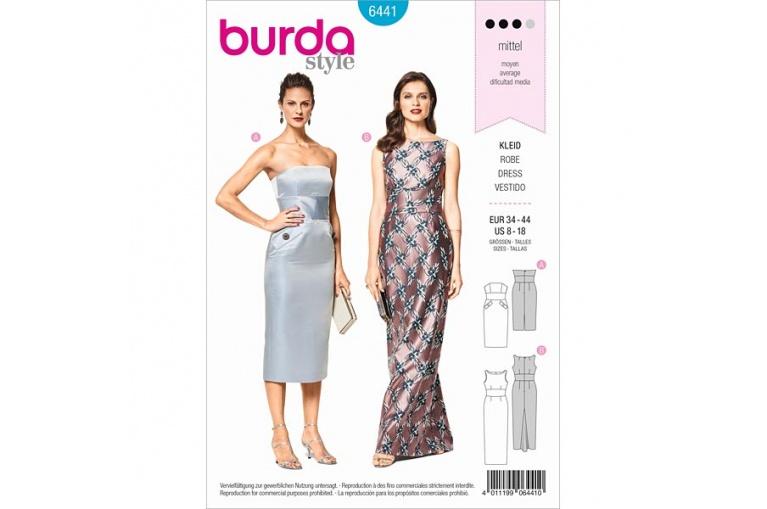 Střih Burda číslo 6441 na společenské šaty  0ba21e0b7e