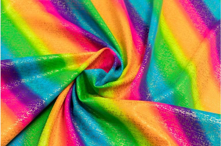 f2c0dcff244c Metráž - Plavkovina Pad80 Sp20 DUHOVÁ RAINBOW100 - látka na plavky a  taneční kostýmy