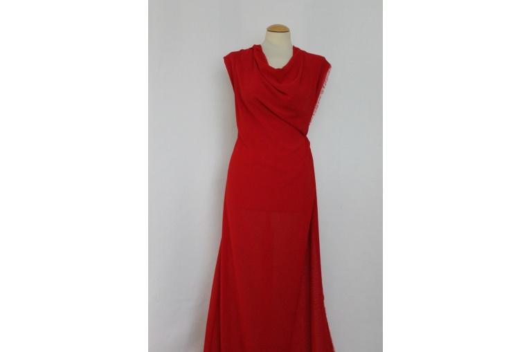 d615837bb74b Metráž - šifon ČERVENÝ TL55010118 - látka na šaty ...