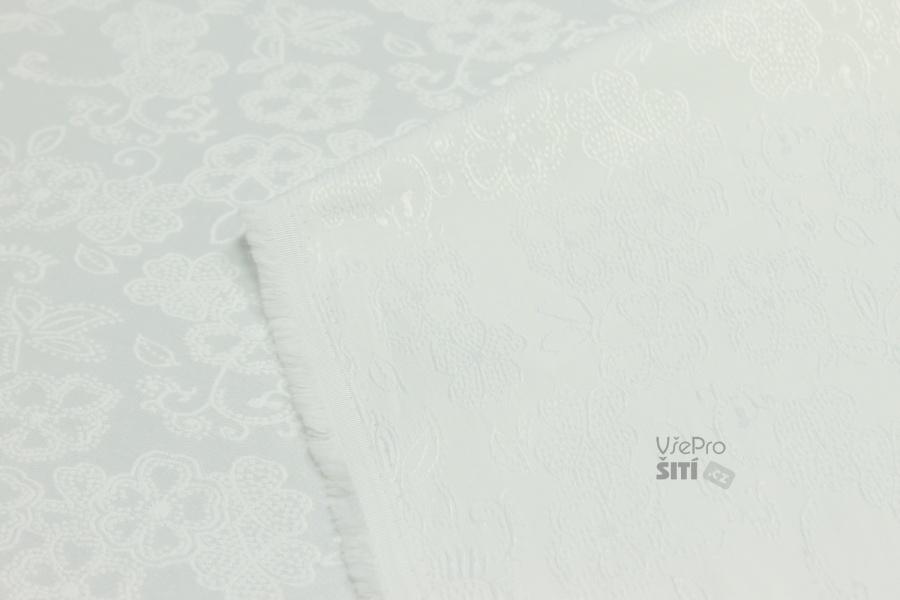 44eea681d7a0 Metráž - žakár BILÝ Ba Pes Pam Sp 18046 B - LÁTKA NA ŠATY A KOSTÝMY ...