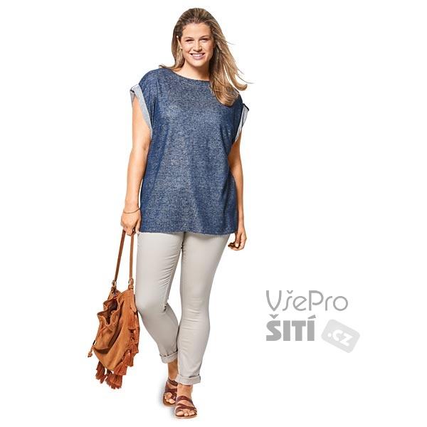 ... Dámské triko pro plnoštíhlé krátké rukávy volné jaro léto Rozkres střihu  Burda 6445 trička pro plnoštíhlé jarní letní ... e42af369e4