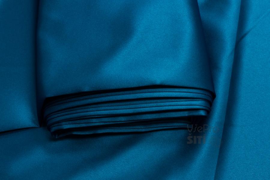 d9eac29e9c5c Metráž - Satén Pes STŘ. MODRÝ TL.05930011 - látka na šaty ...
