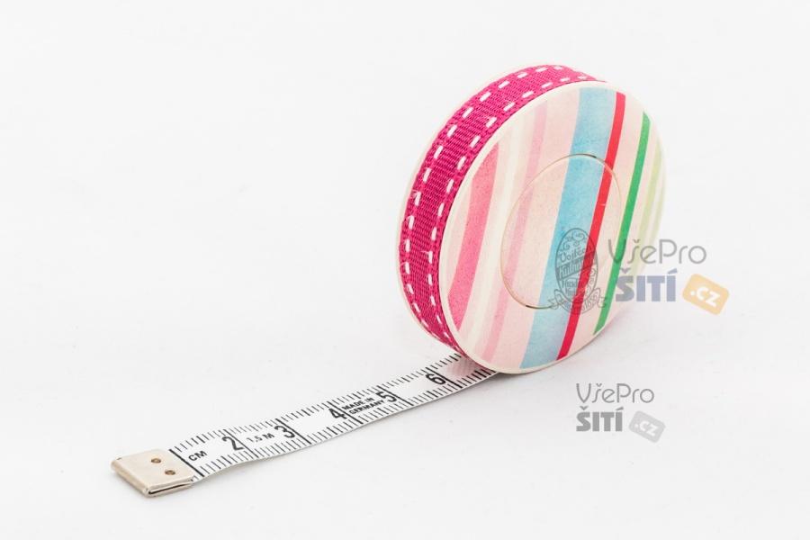 ... 01 150 cm dlouhý samonavíjecí metr ROLLFIX pastelové pruhy 198b5492ce