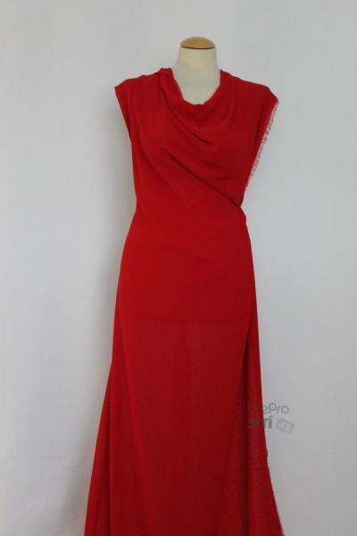 708b929773fb Metráž - šifon ČERVENÝ TL55010118 - látka na šaty